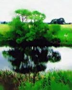 corot riverbank oil